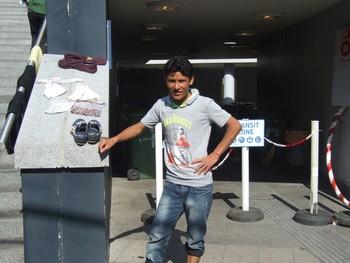 réfugié Afghan à la gare de Keleti, Budapest