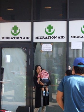 réfugiée à la gare de Keleti
